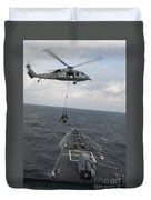 An Mh-60s Sea Hawk Helicopter Delivers Duvet Cover