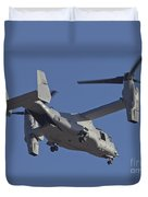An Mv-22b Osprey Prepares For Landing Duvet Cover