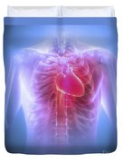 Anatomy Of The Chest Duvet Cover