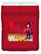 And Theres Always Music In The Air Duvet Cover by Luis Ludzska