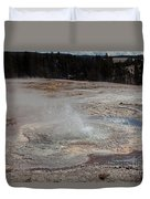 Anemone Geyser In Upper Geyser Basin Duvet Cover