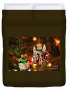 Angel Christmas Ornament Duvet Cover
