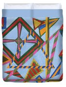 Angles And Tangles Duvet Cover