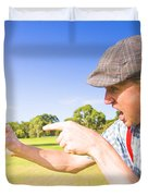 Angry Golf Duvet Cover