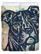 Animal Pop Art Etching Poster - Dog - 4 Duvet Cover