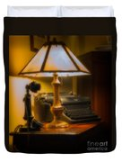 Antique Lamp Typewriter And Phone Duvet Cover