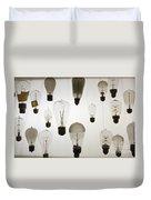 Antique Light Bulbs Duvet Cover