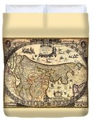 Antique Map Of Holland 1630 Duvet Cover