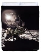 Apollo 17 Moon Landing Duvet Cover by Science Source