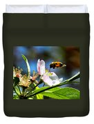 Apple Blossom And Honey Bee Duvet Cover