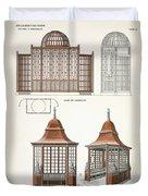 Architecture In Wood, C.1900 Duvet Cover