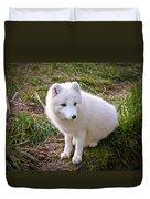 Arctic White Fox Duvet Cover