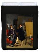 Aretino In The Studio Of Tintoretto Duvet Cover