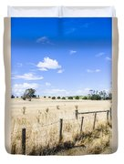 Arid Agricultural Landscape In South Tasmania Duvet Cover