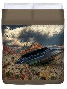 Artist Concept Of The Roswell Incident Duvet Cover