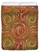 Artistic Embossed Twirl Decoration Chakra Style Unique Signature Navinjoshi Artist Created Images Te Duvet Cover