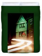 At Night In Thuringia Village Germay Duvet Cover