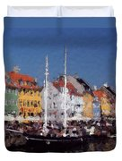 At The Harbor Duvet Cover