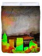 Atlanta Skyline Watercolor Duvet Cover