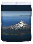 Augustine Volcano Cook Inlet Alaska Duvet Cover