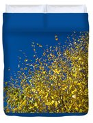 Autumn Blue Sky Duvet Cover