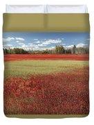 Autumn Blueberry Field Maine Duvet Cover
