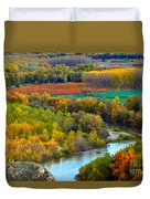 Autumn Colors On The Ebro River Duvet Cover by RicardMN Photography
