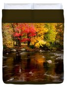 Autumn Colors Reflected Duvet Cover