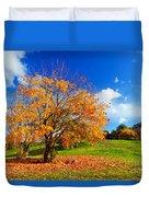 Autumn Fall Landscape Duvet Cover