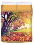 Autumn Fall Park Duvet Cover