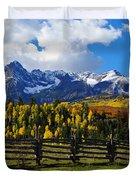 Autumn Fences Duvet Cover