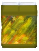 Autumn Leaves On The Abstract Background Duvet Cover