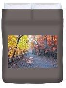 Autumn On Forbidden Drive Duvet Cover