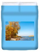 Autumn On The Dnieper River Duvet Cover