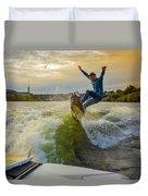 Autumn Wake Surfing Duvet Cover