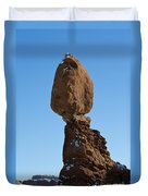 Balanced Rock Arches National Park Utah Duvet Cover
