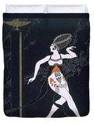 Ballet Scene With Tamara Karsavina Duvet Cover