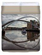 Baltic And Gateshead Millennium Bridge Duvet Cover