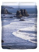 Bandon Beach Seastacks 4 Duvet Cover