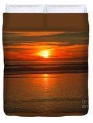 Bandon Beach Sunset Duvet Cover