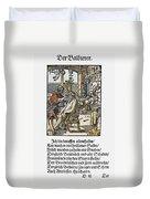 Barber-surgeon, 1568 Duvet Cover