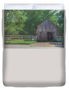 Barn By A Fence Duvet Cover