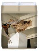 Barn Swallow Duvet Cover by Scott Linstead