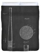Baseball Bat Patent Drawing From 1920 Duvet Cover
