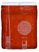 Baseball Bat Patent Drawing From 1923 Duvet Cover