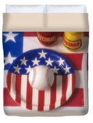 Baseball Dinner Duvet Cover