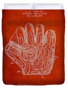 Baseball Glove Patent Drawing From 1924 Duvet Cover