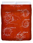 Baseball Training Device Patent Drawing From 1963 Duvet Cover