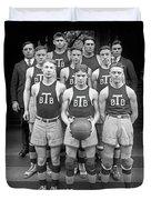 Basketball Team, 1920 Duvet Cover