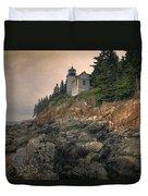 Bass Harbor Head Light II Duvet Cover